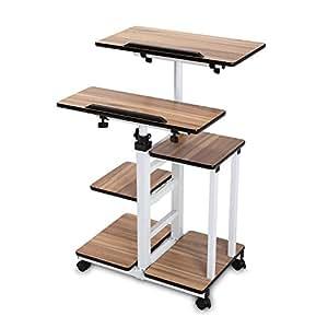 bureimobile height adjustable stand up desk computer work station rolling. Black Bedroom Furniture Sets. Home Design Ideas