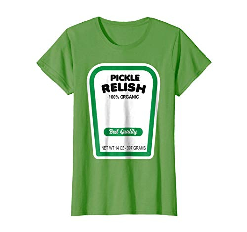 Womens Funny Organic Pickle Relish Halloween Costume T-Shirt Large Grass