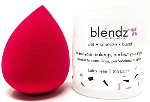 Makeup Beauty Blender by blendz - The Revolutionary Wet - Squeeze - Blend Makeup Blender | Latex Free | Great for Foundations, Primers, Powder & Setting Spray Cosmetics | Makeup Brush | (Rose)