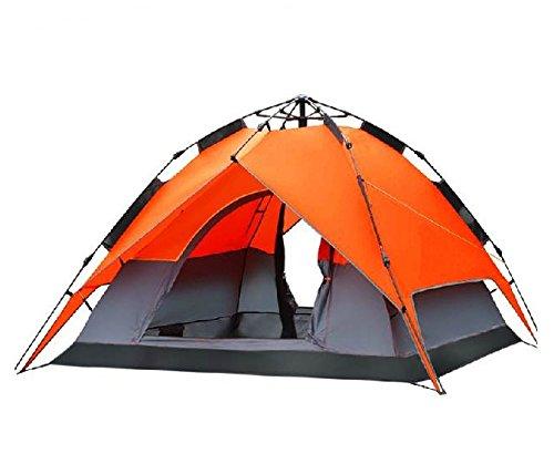 【アウトドア】テント キャンプ ファミリー 山 川 夏休み サークル BBQ バーベキューに T-4  グリーン B00M1O5CKG