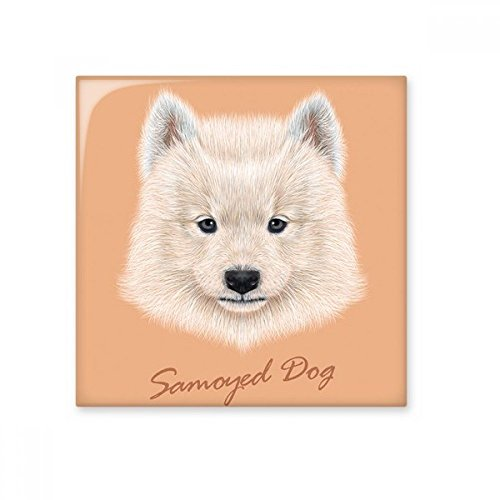 (White Samoyed Dog Pet Animal Ceramic Bisque Tiles Bathroom Decor Kitchen Ceramic Tiles Wall Tiles)