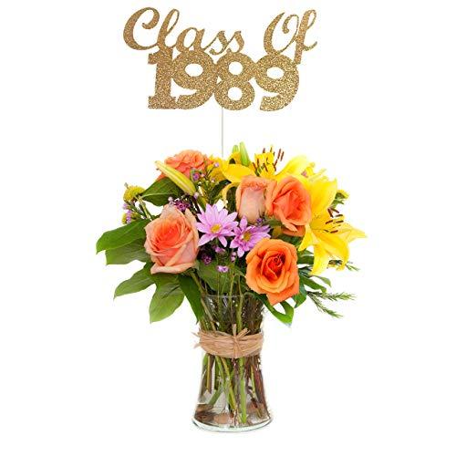 Class of 1989 Centerpiece Stick (Set of 3), 30th Class Reunion Centerpiece Stick -