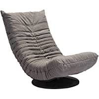 Zuo Down Low Swivel Chair, Gray