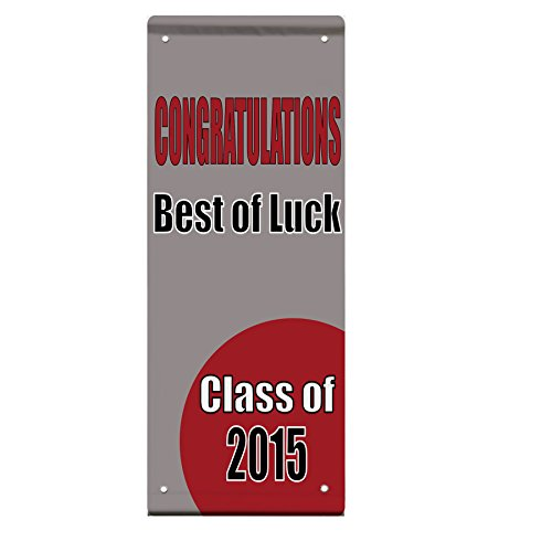 Congratulations Best Of Luck Class Custom Year Double Sided Pole Banner Sign 24 in x 36 in w/ Pole Bracket by Fastasticdeals