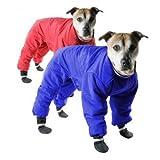 Muttluks Four Legged Nylon Reversible Snowsuit - Red and Blue, Size: 26 (Warm Coats)