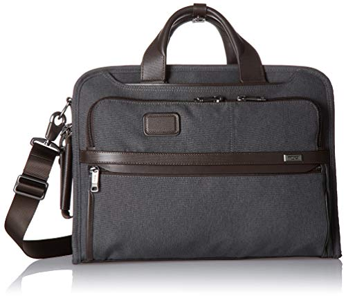 (TUMI - Alpha 3 Slim Three Way Laptop Brief Briefcase - 15 Inch Computer Bag for Men and Women - Anthracite)