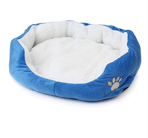 (6 Colors Soft Polar Fleece Dog Cat Bed Winter Warm Nest Pet House Dog Kennel Indoor Sleeping House Puppy Bed,2,50X40X15Cm)