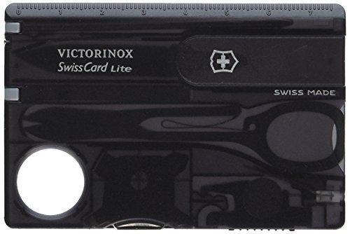 Victorinox SwissCard Lite Multitool and LED Light Onyx 53333