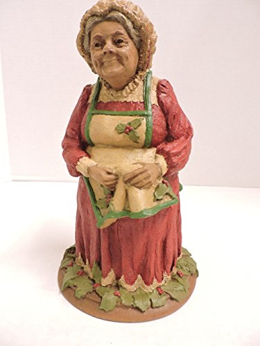 """Tom Clark Gnome by Cairn Studios """"Belle Kringle"""" Mrs Claus w/ Gift and Elf 1983 Retired Figurine"""