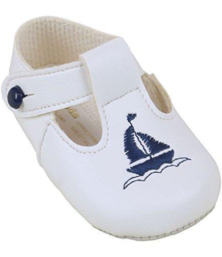 BabyPrem Bebé Zapatos Cochecito Clásico Ropa Niños Barco Barra en T Azul Marino 12-18 Meses EUR 19