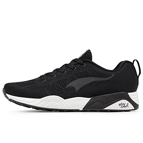 Knit Black Women's Lightweight Mesh Sports Fashion Men's Running Sneakers Pattern ONEMIX Shoes Rf47F4p