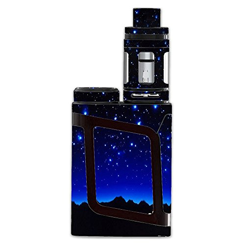 Skin Decal Vinyl Wrap For Smok Al85 Alien Baby Kit Vape Mod Stickers Skins Cover  Stars Over Glowing Sky