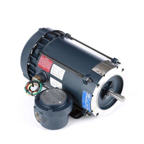 Leeson Electric 116613.00 Explosion Proof/Hazardous Location Motor - 1 ph, 1 hp, 3600 rpm, 115/208-230 V, 56C Frame, Explosion Proof Fan Cooled Enclosure, 60 - Motor Location Hazardous