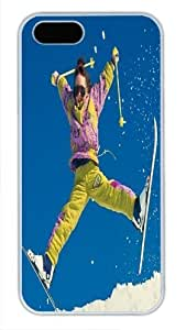 Beautiful Type White Pc For SamSung Galaxy S5 Mini Phone Case Cover - Interesting Skiing - Exciting