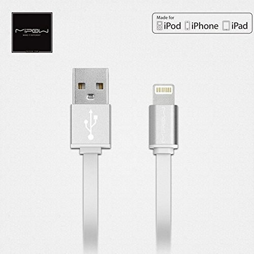 Iphone Cable [Apple MFi Certified], Mipow USB Cable for iphone 7 / 7 Plus / 6 / 6 Plus, iPad Air 2 and More - Sliver