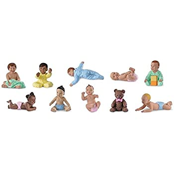 Safari Ltd Bundles of Babies TOOB  Comes With a Classic Teddy Bear and 9 Different Babies in Active Poses  Quality Construction, BPA Free  For Ages 3 and Up