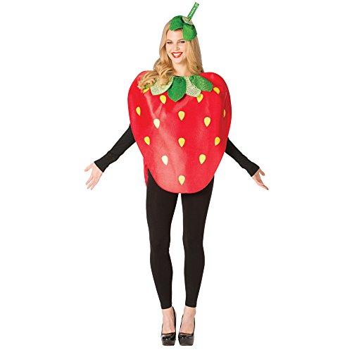 Rasta Imposta Adult Strawberry Mascot Halloween Costume -