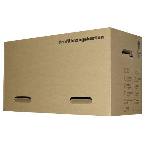 5x Umzugskartons stabil, Größe L, 2-wellig, braun