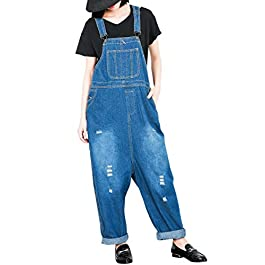 ELLAZHU Women Fashion Adjustable Strap Pockets Denim Overalls OneSize GY808