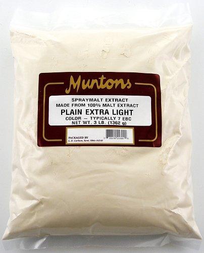 Muntons Plain Extra Light DME 3 LBS - Muntons Dry Malt Extract