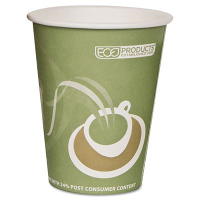 Eco-Products ECOEPBRHC12EWPK Evolution World PCF Hot Cups, Post-Consumer Fiber, Recycled, 12 oz (Pack of 50) - Eco Products Hot Cup