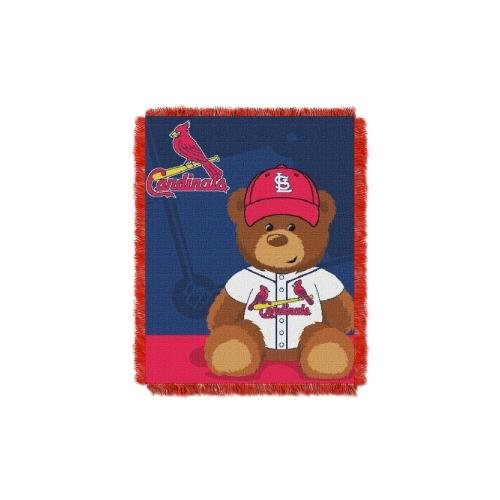 Louis Cardinals Wall Hanging - The Northwest Company MLB St. Louis Cardinals Field Bear Woven Jacquard Baby Throw, 36