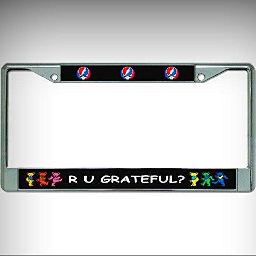 R U Grateful Grateful Dead Chrome License Plate Framefor Home/Man Cave Decor by PrettyMerchant
