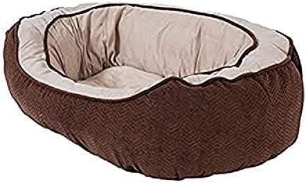 Precision Pet Daydreamer Gusset Bed, 26 by 22 by 10-Inch, Chocolate