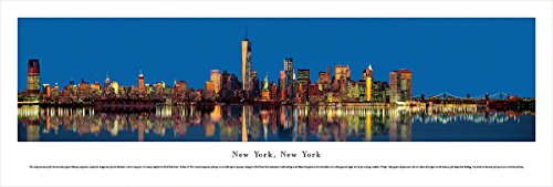 New York, New York - Lower Manhattan at Twilight - Blakeway Panoramas Unframed Skyline Posters