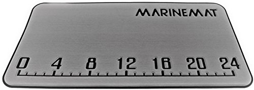 Marine Mat Yeti Tundra 65 Fishing Ruler Cooler Pad by Color Aegean Blue Over Black