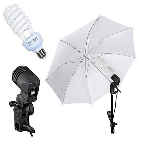 AW Portable Flat Clothing Photography Kit w/Backdrop 2X 45W Bulb 2X 33 Translucent White Umbrella Set by AW (Image #5)