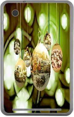 (Merry Xmas Tree Decorations Landscape Design Slate 7 Vinyl Decal Sticker Skin by Smarter Designs)