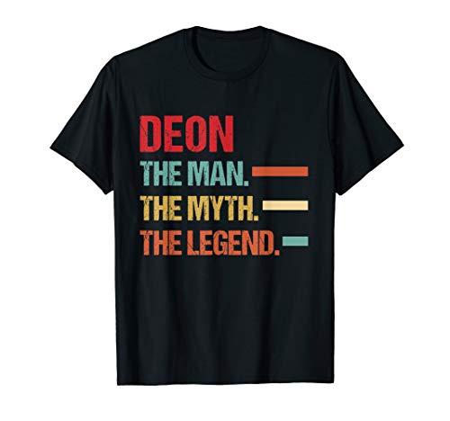 Mens DEON The Man Myth Legend Vintage First Name Tee T-Shirt