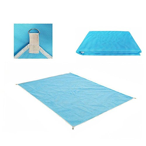 None Sand Free Beach Mat - Ultra Lightweight Sand Proof Free Beach Mat, Waterproof Portable Sandless Blanket for Summer Beach, Picnic, Hiking, Outdoor (200200cm, Blue) by None