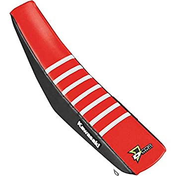 Dcor Visuals 30-20-467 Seat Cover Black//Red White Ribs Kx F250 17 450 16-17 D/'cor Visuals