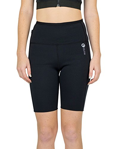 Delfin Spa Women's Heat Maximizing Neoprene Exercise and Anti-Cellulite Shorts, Black, - Far Sauna Reviews Infrared