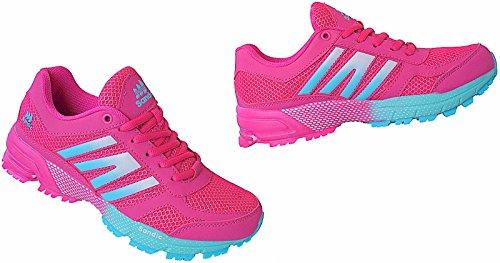 Damen Laufschuhe Turnschuhe Sportschuhe Sneaker Gr.36 - 41 Art.-Nr.1686 fuchsia-lt.blau