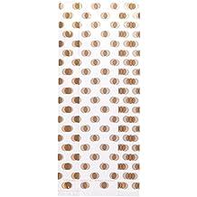 Wilton 1912-7922 20 Count Gold Polka Dot Print Treat Bags