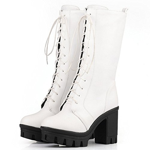 Warm White Lace RAZAMAZA Boots Lined Women Up vZ185
