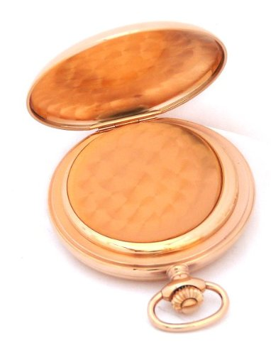 Bernex Swiss Made Large Rose Gold Plated Pocket Watch with 17 Jewel Mechanical Movement