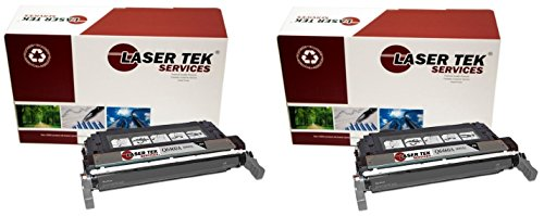 Q6460a Replacement - Laser Tek Services Compatible 644A Toner Cartridge Replacement for The HP Q6460A. (Black, 2-Pack)
