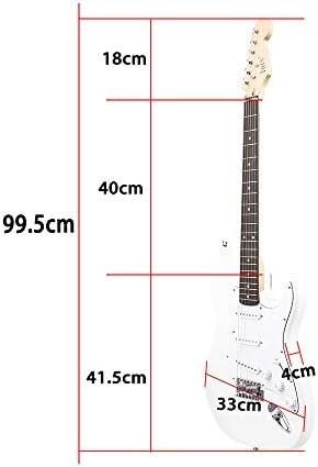 ammoon ST Guitarra Eléctrica Cuerpo de Tilo Palisandro con Estuche ...