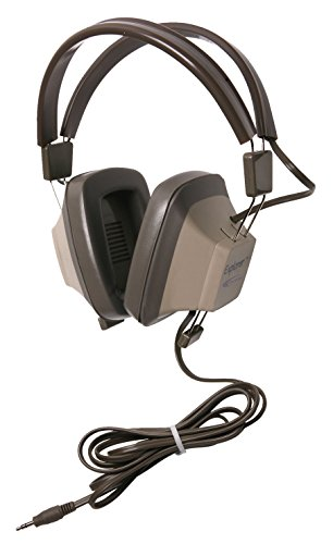 Califone EH-3S Explorer Binaural Stereo Headphone, 3.5mm, No Volume Control