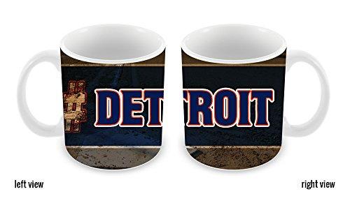 BleuReign(TM) Hashtag Detroit #Detroit Baseball Team 11oz Ceramic Coffee Mug