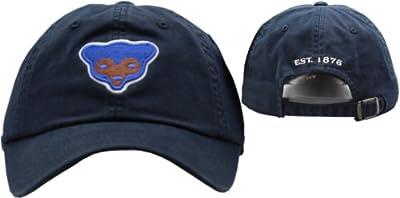 Chicago Cubs Bear Logo Navy Slouch Buckle Back Cap