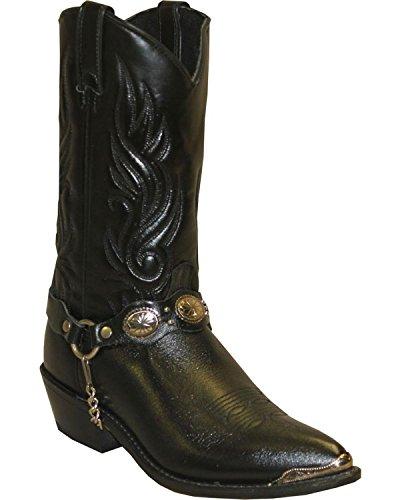Abilene Mens Sage Con Boot Western Concho Strap - 3034 Nero