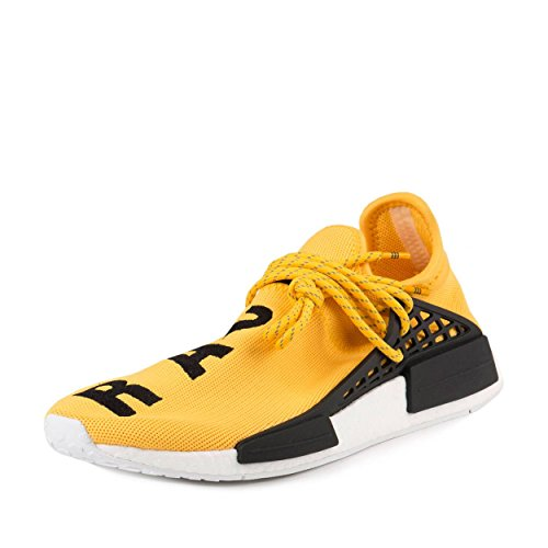 a0749cfe988aa adidas Mens Pharrell Williams X Human Race NMD Yellow Black-White Fabric  Size 6.5