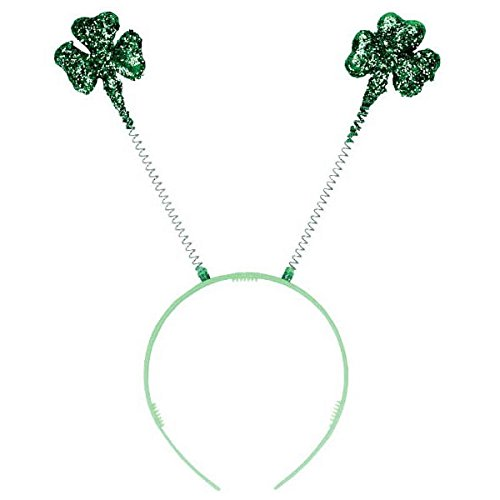 [Amscan Glitter Shamrock Plastic Bopper St. Patrick's Day Costume Party Head Wear Accessory (1 Piece), 10 1/2