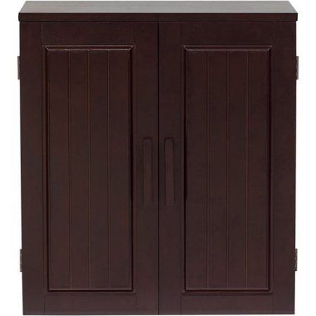 Elegant Home Fashions Dolce Wall Cabinet, Dark Espresso (Cabinet For Sheet Music)
