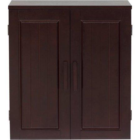 Elegant Home Fashions Dolce Wall Cabinet, Dark Espresso
